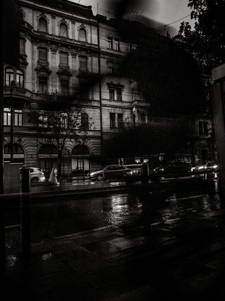 Speedy rain cyclist. Budapest - 2017.